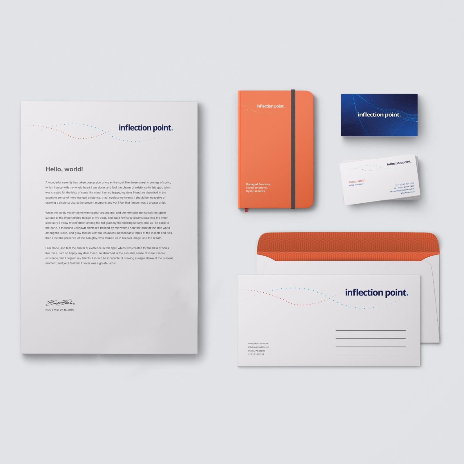 Company rebrand, image of portfolio