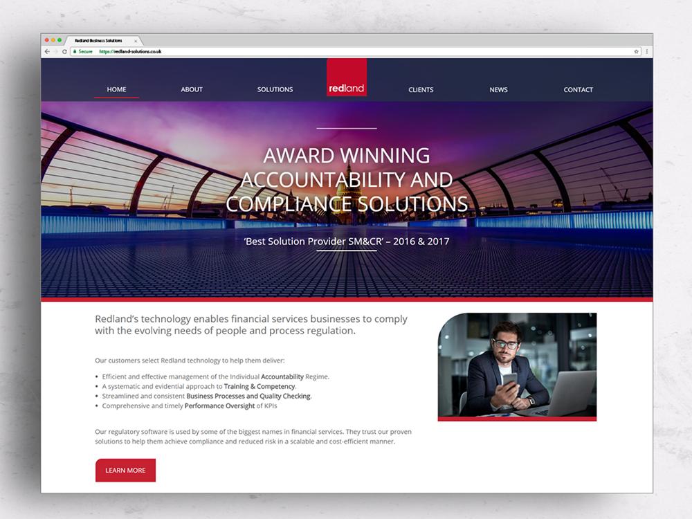 Arkerton website design, Redland website